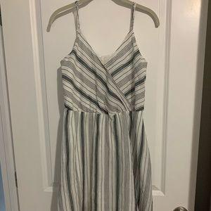 A New Day striped dress with v neckline